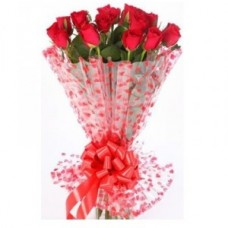 Long Stem Red Roses Bunch