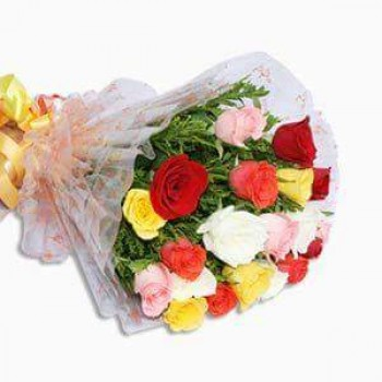Rainbow with 20 Roses