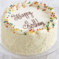 Birthday White Forest Cake