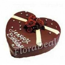 Chocolate Cake for Freind in Heart Shape